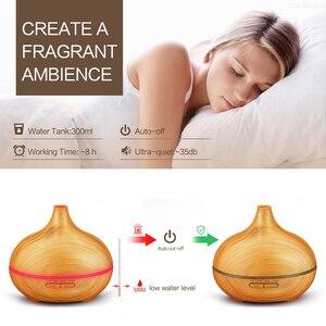 Image 4 - Umidificador de ar elétrico com 300ml, difusor de aroma para aromaterapia, para óleo essencial, produtor de vapor para casa ou madeira
