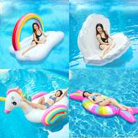 Inflatable Swimming Ring Giant Flamingo Unicorn Adult Pool Float Mattres Swimming Circle Life Buoy Kid Swimming Water Pool Toys