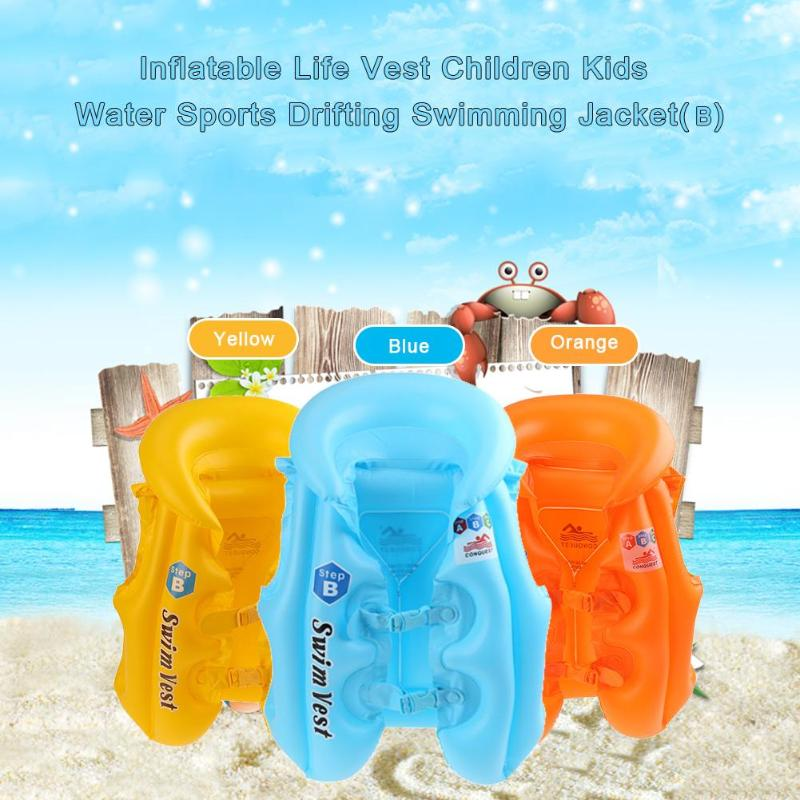 Summer Swimming life vest Childrens inflatable swimming vest bathing suit Sunscreen Floating Power swimming pool accessories