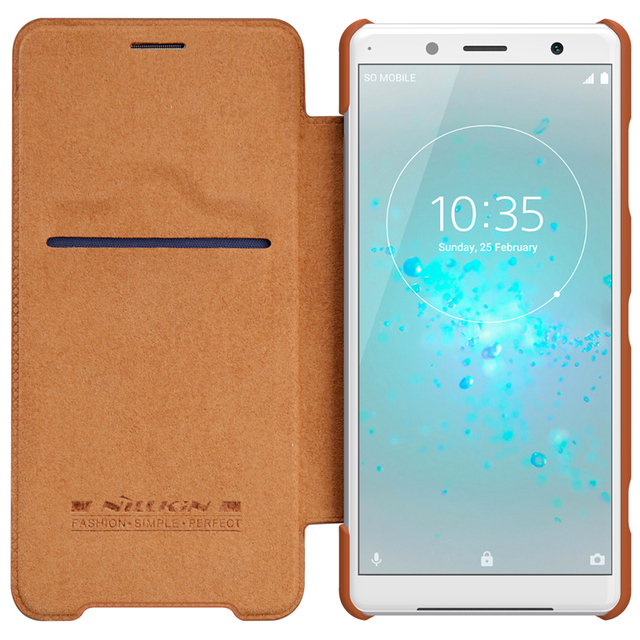 size 40 96b20 50c7b US $10.89 5% OFF|For Sony Xperia XZ2 Compact Case NILLKIN QIN Series  Leather Card Pocket Case Cover For Sony Xperia XZ2 Compact Flip Wallet  Case-in ...