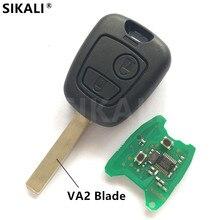 Удаленный Ключи для C2 C3 автомобиля Управление сигнализация с VA2 лезвие 2003 2004 2005 2006