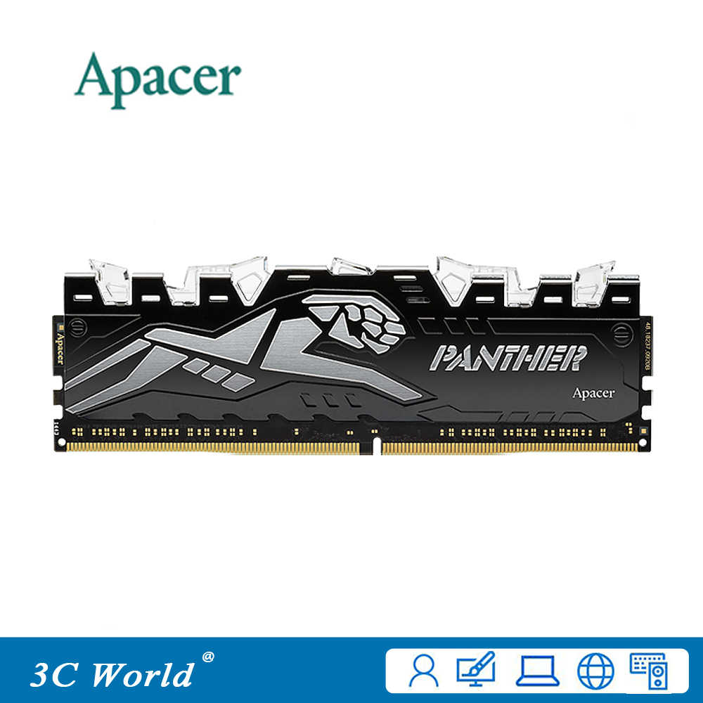 Apacer PANTHER DDR4 3000 RAM 8GB 3000MHz DIMM LED lighting Original Desktop  Gameing Memory Support Motherboard DDR4 288pin 1 35V