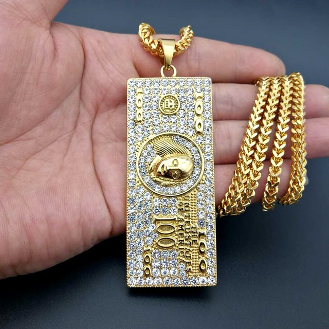 US $100 Dollar Money Necklace & Pendant 6