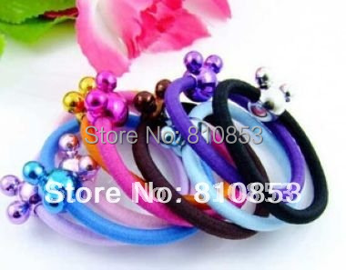 100pcs/lot Free Shipping Candy colors Headwear rope,Elastic Hair bands  hair accessories Christmas Gift wholesale Lc-01-279