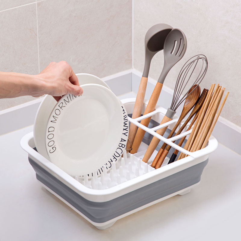 Kitchen Accessories Dish Rack Set Dish Cutlery Cup Rack With Tray Steel Drain Bowl Rack Kitchen Shelf Folding Dish Rack DrainerKitchen Accessories Dish Rack Set Dish Cutlery Cup Rack With Tray Steel Drain Bowl Rack Kitchen Shelf Folding Dish Rack Drainer