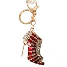 OTOKY 2018 Hot Sale 1pcs Charm Crystal Shoe High Heel Keyring Purse Pendant  Bag Key Chain b6a6f827dfca