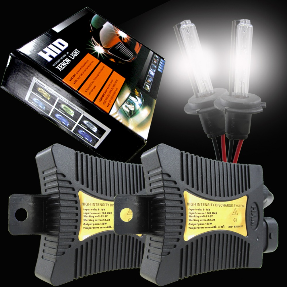 H1 H7 H3 Bi-Xenon Lamp HID Conversion KIT Bulbs Ballast Autos Car Headlight Lights Automoveis 55W 3000K 6000K TXVSO8 55w hid xenon kit black slim ballast conversion bulbs d2s 6000k headlight new [cpa189]