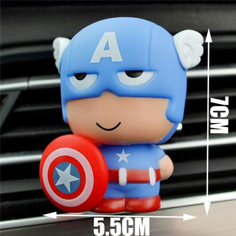 Image 3 - Automotive Freshener Car Perfume Clip For The Avengers Marvel Superhero Figures Auto Vents Scent Diffuser In The Car Accessories-in Air Freshener from Automobiles & Motorcycles