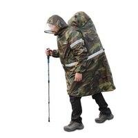 Multifunctional Outdoor Military Raincoats Backpack Rain Cover Rain Poncho Cape Unisex Awning Climbing Hiking Camping Rain