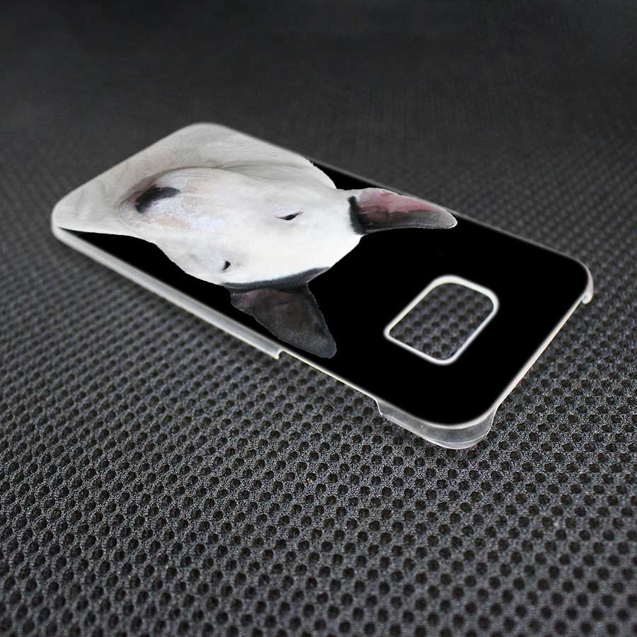 MOUGOL Bullterrier bull terrier design transparent hard case for Samsung Galaxy S8 S7 S6 S5 S4 edge Mini Plus Note 8 5 4 3