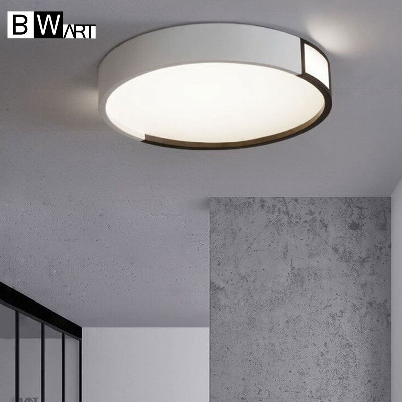 BWART Modern LED ceiling light Round simple decoration fixtures study dining room balcony bedroom living room ceiling lamp foyer ceiling light living room is dome light round american idyllic corridor scandinavian simple balcony antique bedroom lamp 1852