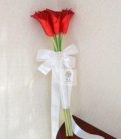 Artificial flower wedding flower PU calla bride holding flowers long design