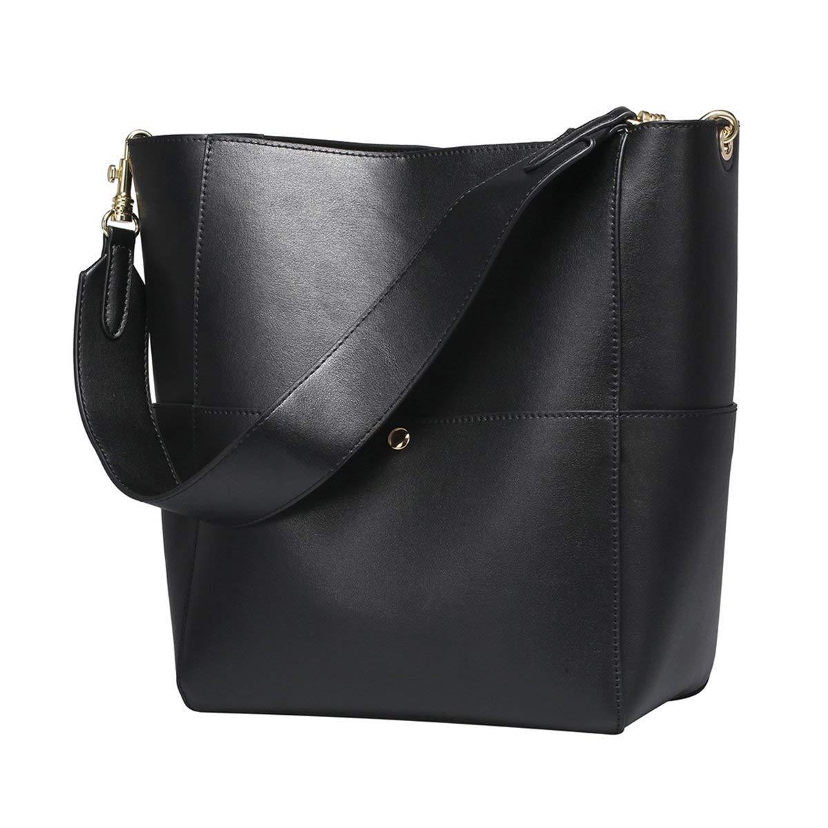 Women\\'S Vintage Leather Bucket Tote Shoulder Bag Handbag Purse