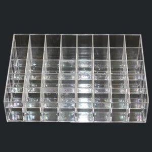 Desktop trapezoidal transparent 40-frame cosmetics rack