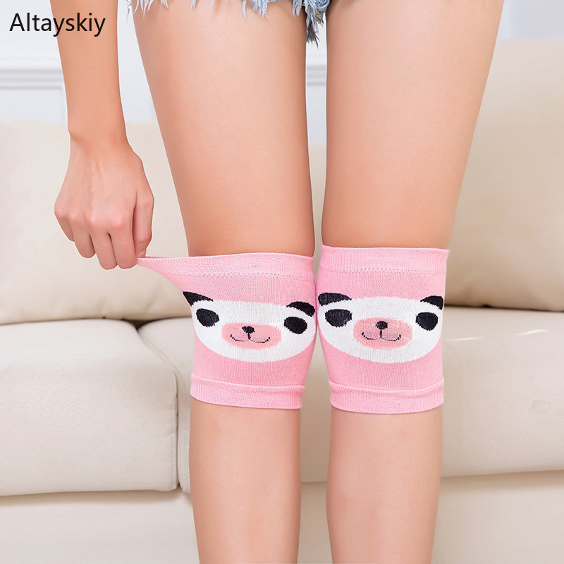 Knee Sleeve Women Summer Cotton High Quality Cute Womens Various Colors Cartoon Comfortable Chic Elasticity Kawaii Korean Style