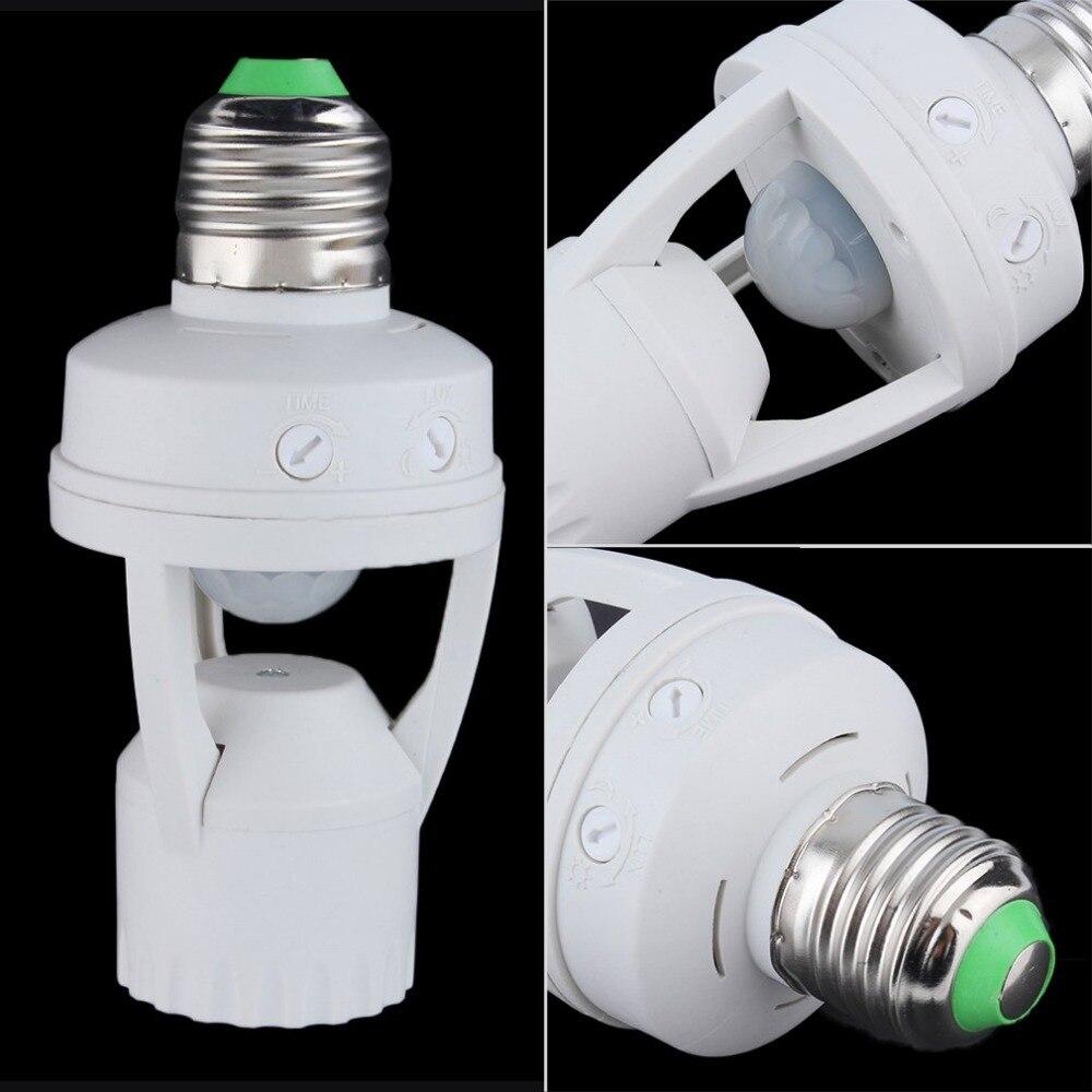 E27 Plug 360 Degrés PIR Induction Motion Sensor Infrarouge de Détection de Mouvement Capteur de Lumière Ampoule Socket Commutateur Base Titulaire AC110-220V