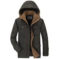 Winter parkas men military medium long winter coat men thickening cotton padded thicken army jacket men with fur hood