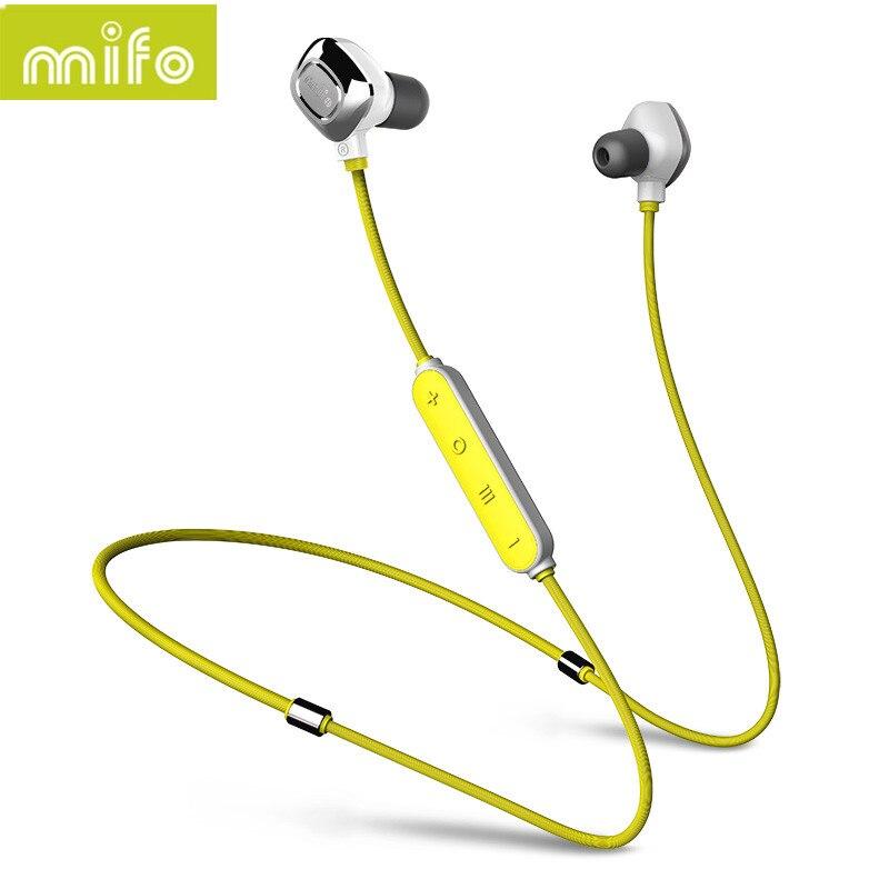 NEWEST Mifo i7 Bluetooth Sport Earphone Wireless Stereo Music Headpone Earbuds Magnetic Suction Charging Earplug Earphones