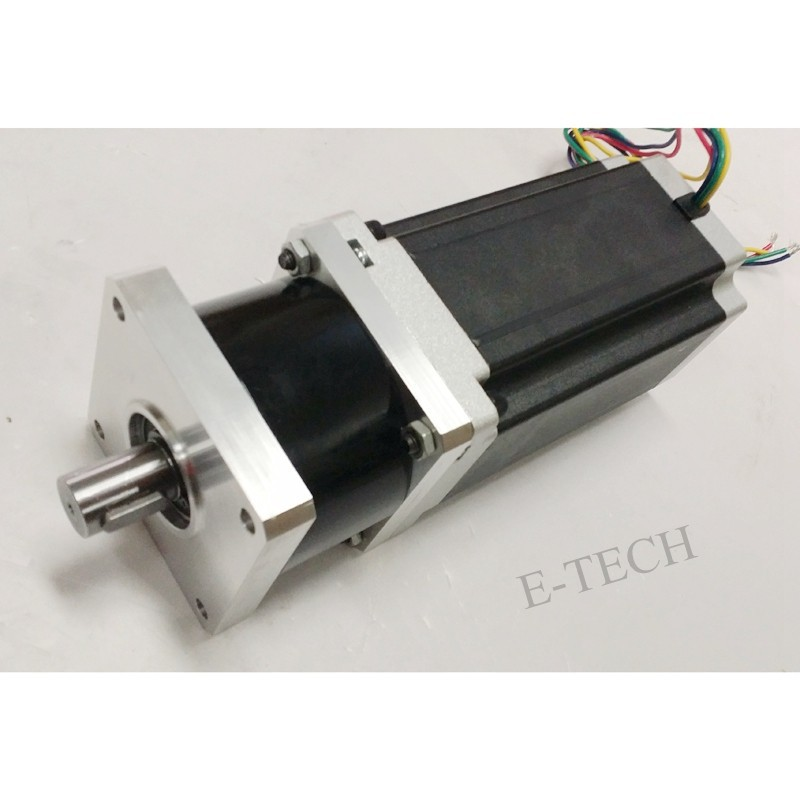цена на 1pcs/lot 3:1 or 5:1 or 8:1 NEMA 42 Planetary Geared Stepper Motor 12N.m Motor Length 100mm CNC Stepping Motor CE ROHS