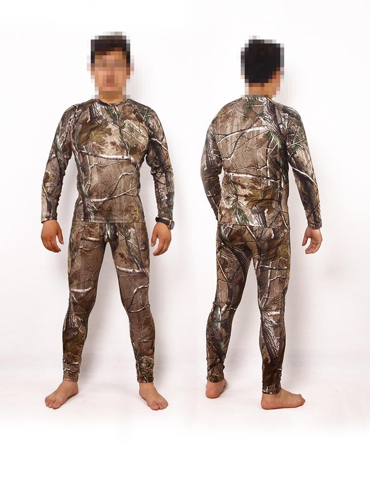 ФОТО Jungle camouflage military fans of high-performance elastic underwear hunting Polaartec warm fleece underwear, sweat clothes