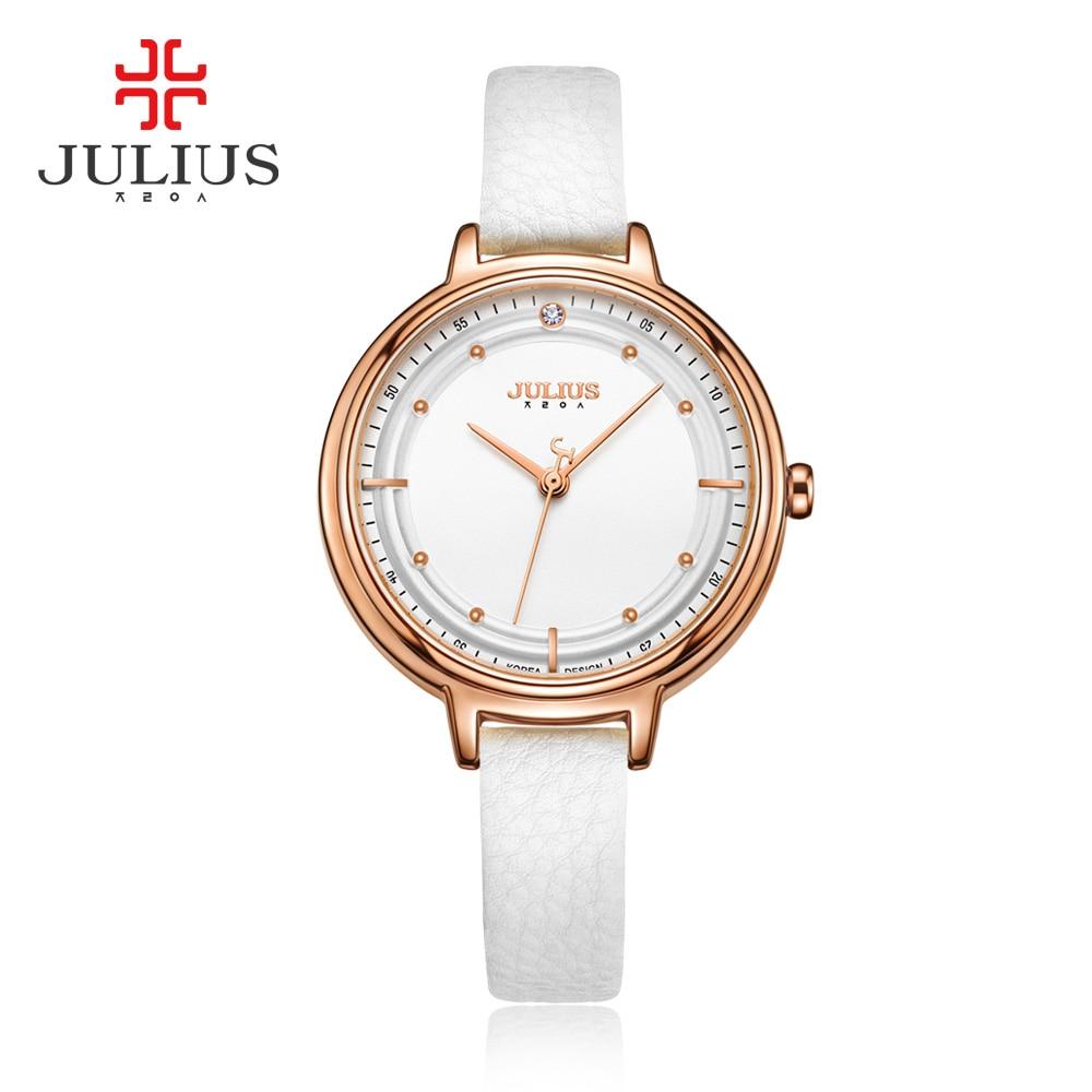 Julius Brand Quartz Watches Women Bracelet Designer Watch Thread Case Leather Ladies Gold Simple Wrist Watch JA-905 montre femme mance ladies brand designer watches