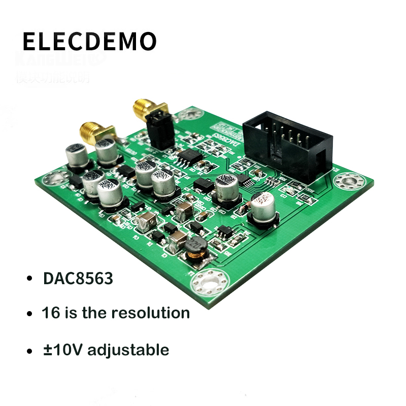 DAC8563 digital to analog conversion data acquisition module Dual 16 bit DAC adjustable positive and negative 10V voltage-in Demo Board Accessories from Computer & Office