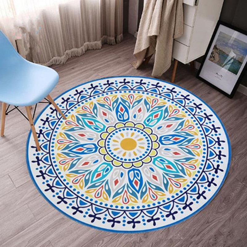 The new flower carpet for livingroom and bedroom round rugs table sofa carpets soft floor door tapete para sala fashion kids mat