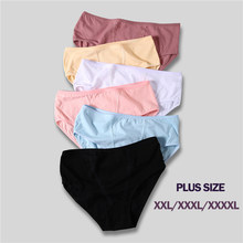 Plus Size 2XL-4XL Women's Panties High Quality Cotton Lace Underwear Soft Middle-Rise Briefs Sexy Panties for Women 6 Colors(China)