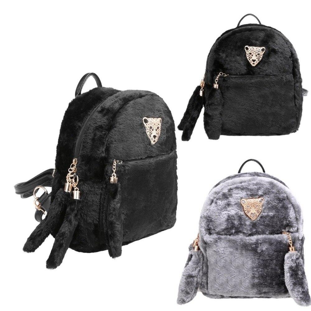 New Fashion Lady Clutch Bag Women Casual Shoulder Bag Fur Travel backbags Plush 2 Color Optional Bolsa Feminina Luxury Bolsos