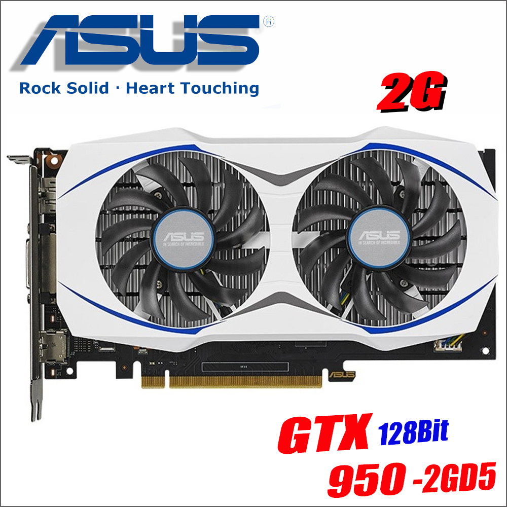 ASUS Video Cards GTX 950 2GB 128Bit GDDR5 Graphics Card for nVIDIA VGA Cards Geforce GTX950 Used stronger than GTX 750 TI 650ASUS Video Cards GTX 950 2GB 128Bit GDDR5 Graphics Card for nVIDIA VGA Cards Geforce GTX950 Used stronger than GTX 750 TI 650