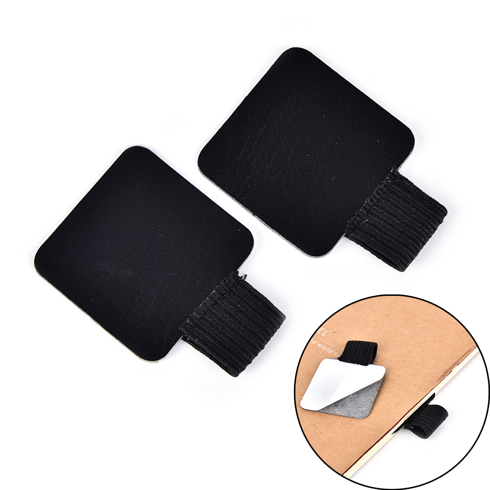 Desk Accessories & Organizer Pen Holders Self-adhesive Leather Pen Clip Pencil Elastic Loop For Notebooks Journals Clipboards Pen Holder