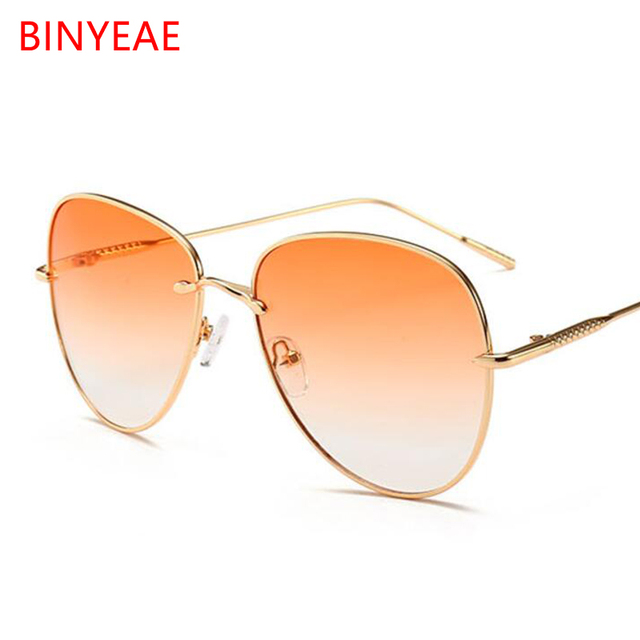 1c6a61fd82 2018 vintage sunglasses female gradient orange lens mirror Sun Glasses For  Women gold metal festival glasses oculos feminino