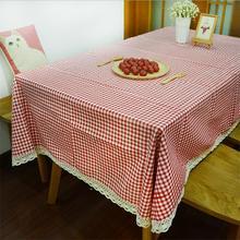Sábanas de algodón Cuadrícula de Color Rojo de Alta Calidad del Paño de Tabla Cubierta de Tabla de Té Mantel De Cocina Y Paño Multiuso