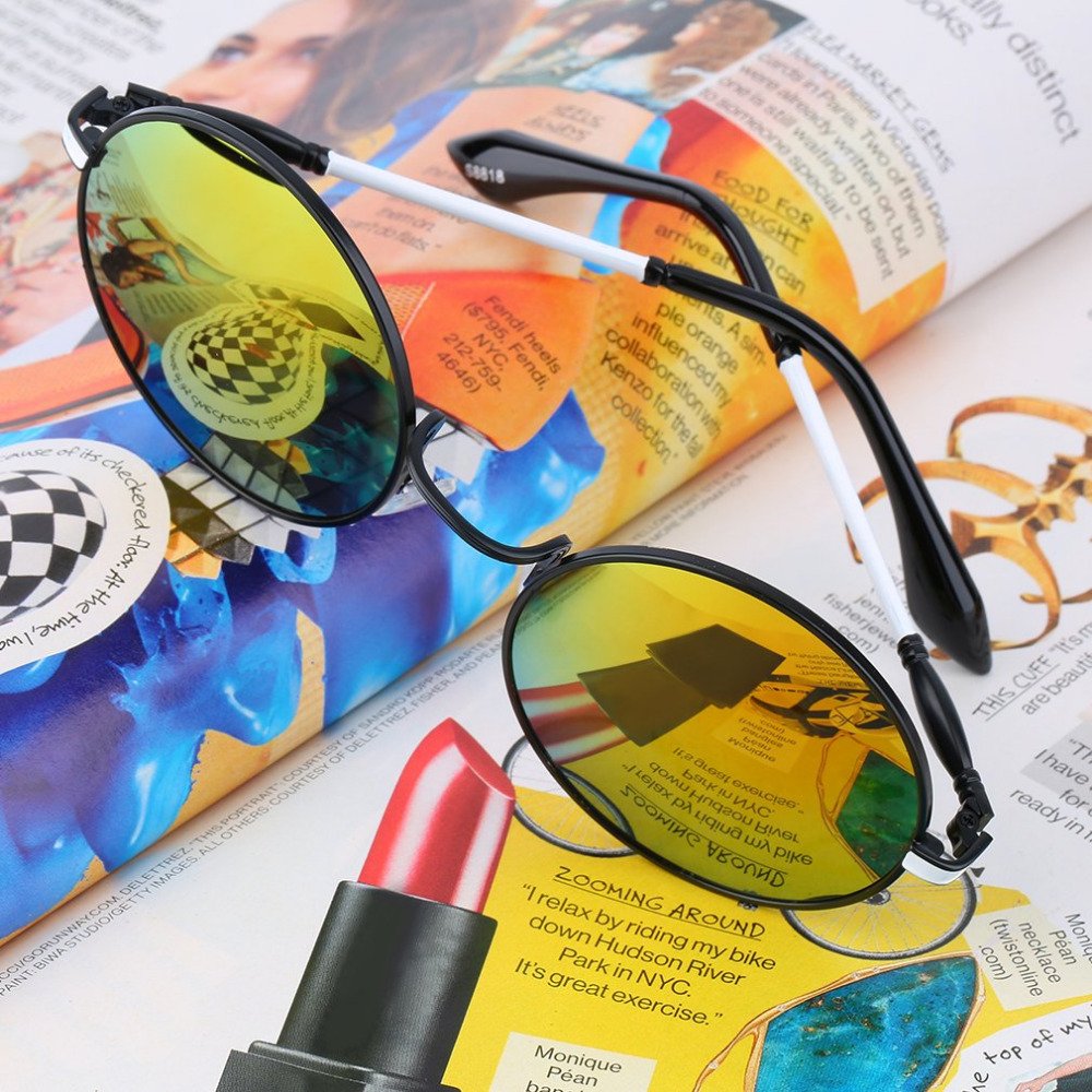 Girl's Accessories Sporting 2019 Summer Arrived Brand Designer Kids Sunglasses Lovely Flower Vintage Round Lens Sun Glasses Girls Cool Eyewear Uv400 Crease-Resistance