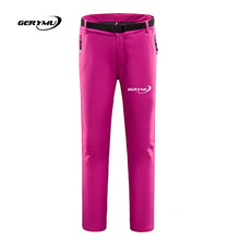 Women Outdoor Softshell font b Pants b font Windproof Waterproof Fleece Thermal Hiking Hunting Camping Climbing