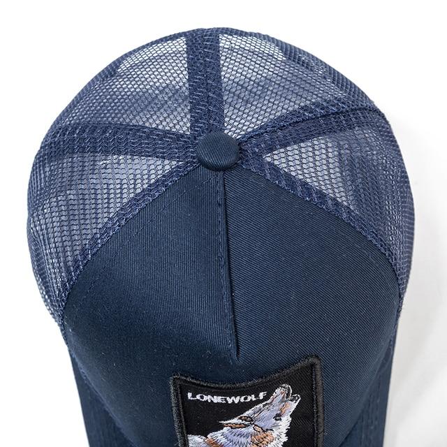 High Quality 12 Styles Animals Baseball Cap Cotton Breathable Mesh Snapback Caps Sun Hat For Women Men Bone Hip Hop Dad Hat 4