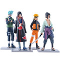 HOT sell Japanese Anime Naruto Action Figures toys cute 12cm Naruto Sasuke Kakashi Itachi PVC model doll toys for children gift