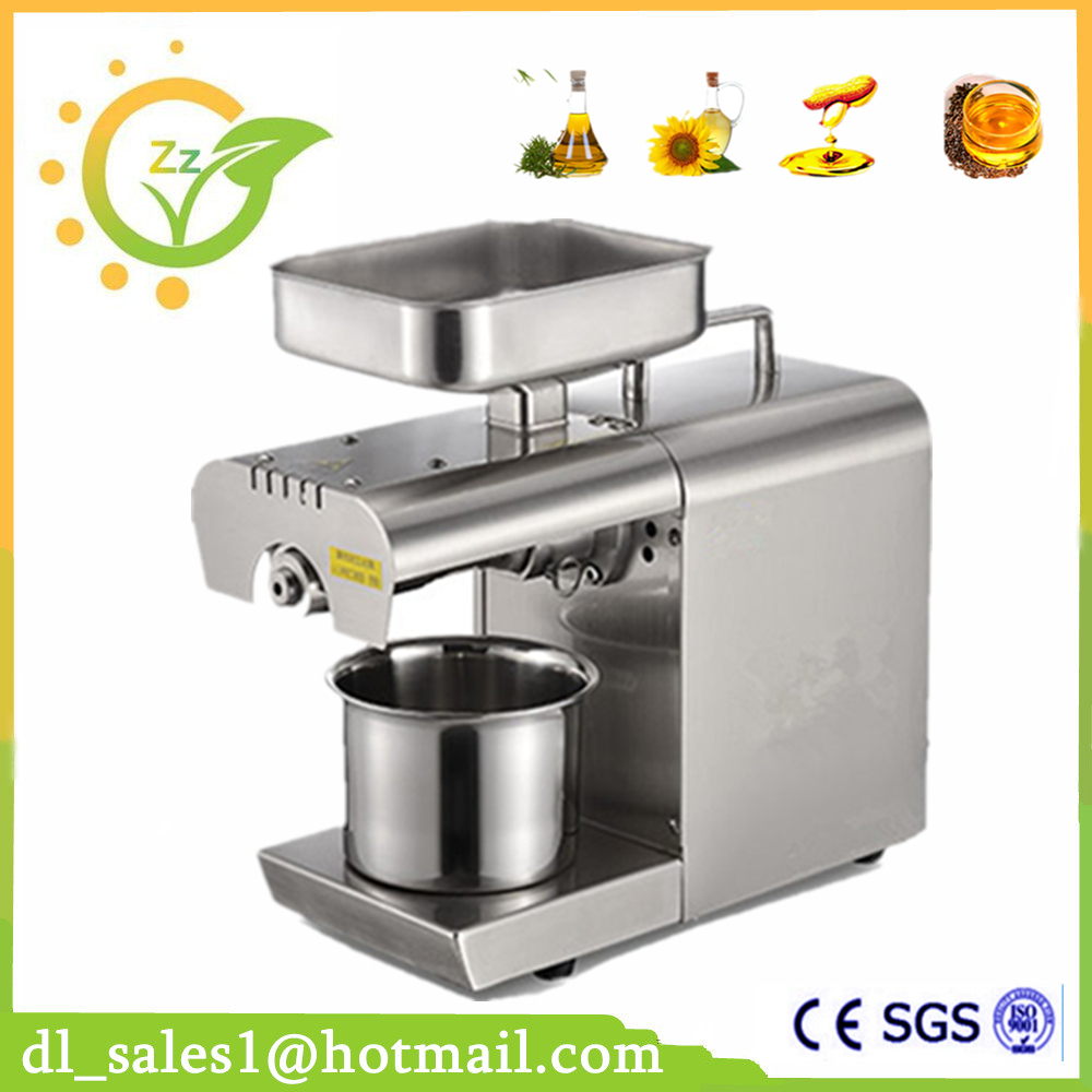 Mini Stainless Steel Automatic Black Seed Cocoa Oil Extraction Machine, Cold Oil Press Expeller, Coconut Oil Press Machine