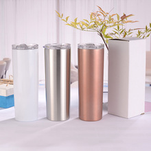 20OZ Straight Coffee Thermos Insulated Cup Double Wall Stainless Steel Vacuum Flask Wine Tumbler with Closing Lid Thermos Bottle