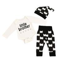 3PCS Toddler Kids Girls Romper Jumpsuits Pants Beanie 100 Cotton Children Girl Clothes Set Kids Outfits