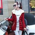 Novo 2016 Mulheres de Inverno Amassado Outerwear Jaqueta Feminina Plus Size 3XL Espessamento Casuais Para Baixo Algodão Amassado Casaco Mulheres Parkas YY133