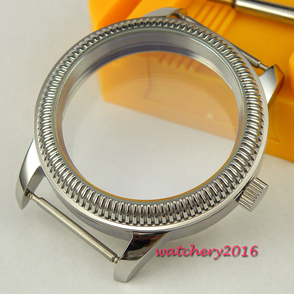 Newest Hot top brand 44mm stainless steel coin Bezel watch CASE 316L stainless steel fit 6498 6497 eat movement Watch Case 44mm watch 316l stainless steel rose golden plated case fit 6498 6497 movement12