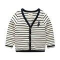 Moda tarja crianças meninos cardigans camisola de Decote Em V longo-luva do bebê menino top camisola primavera e no outono