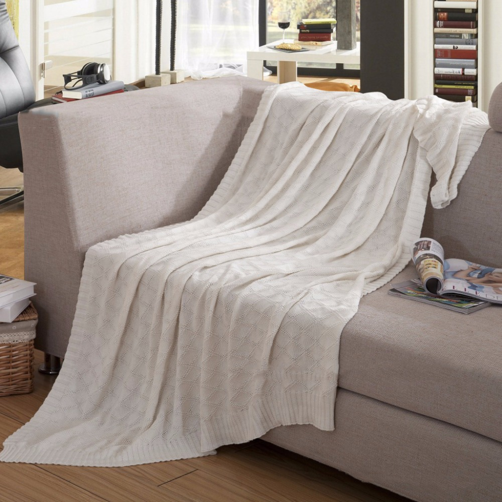 Great Blanket For Sofa Winter Cotton Towel Line Single