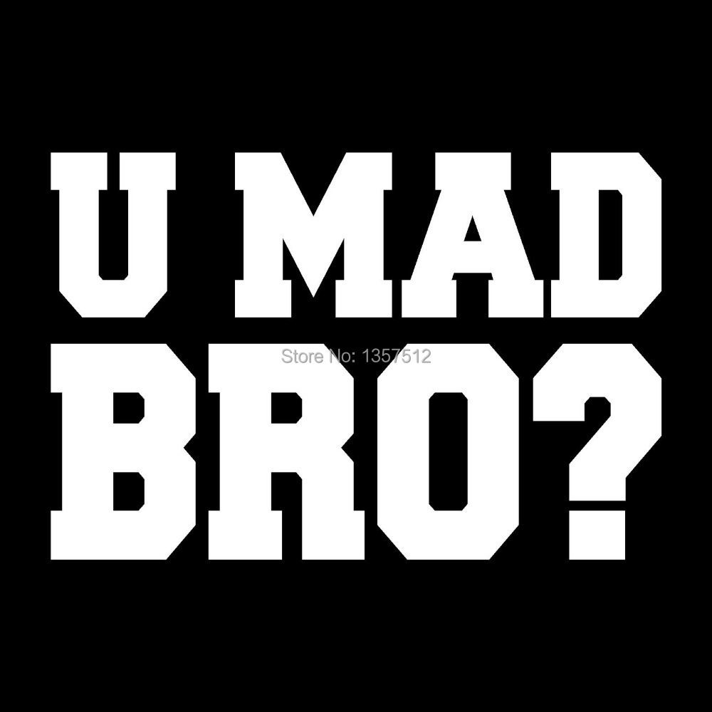 U Mad Brocar Window Vinyl Sticker Decal AUTO Laptop Boat Truck - Vinyl stickers for car windows