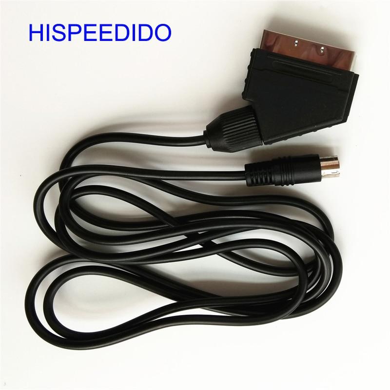 HISPEEDIDO 10pcs lot 1 8m RGB Scart Cable for Sega Mega Drive 2 MD2 RGB cable