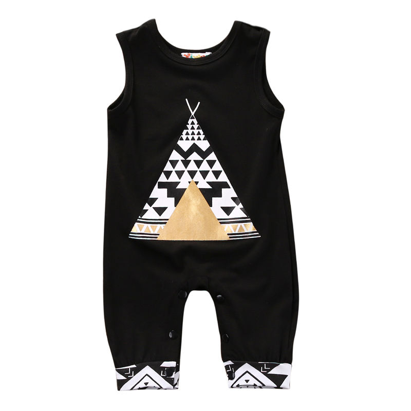 Newborn Baby Boy Girl Sleeveless   Romper   Infant Kids Summer Fox Tent Cartoon Cute Jumpsuit Child Casual Outfits