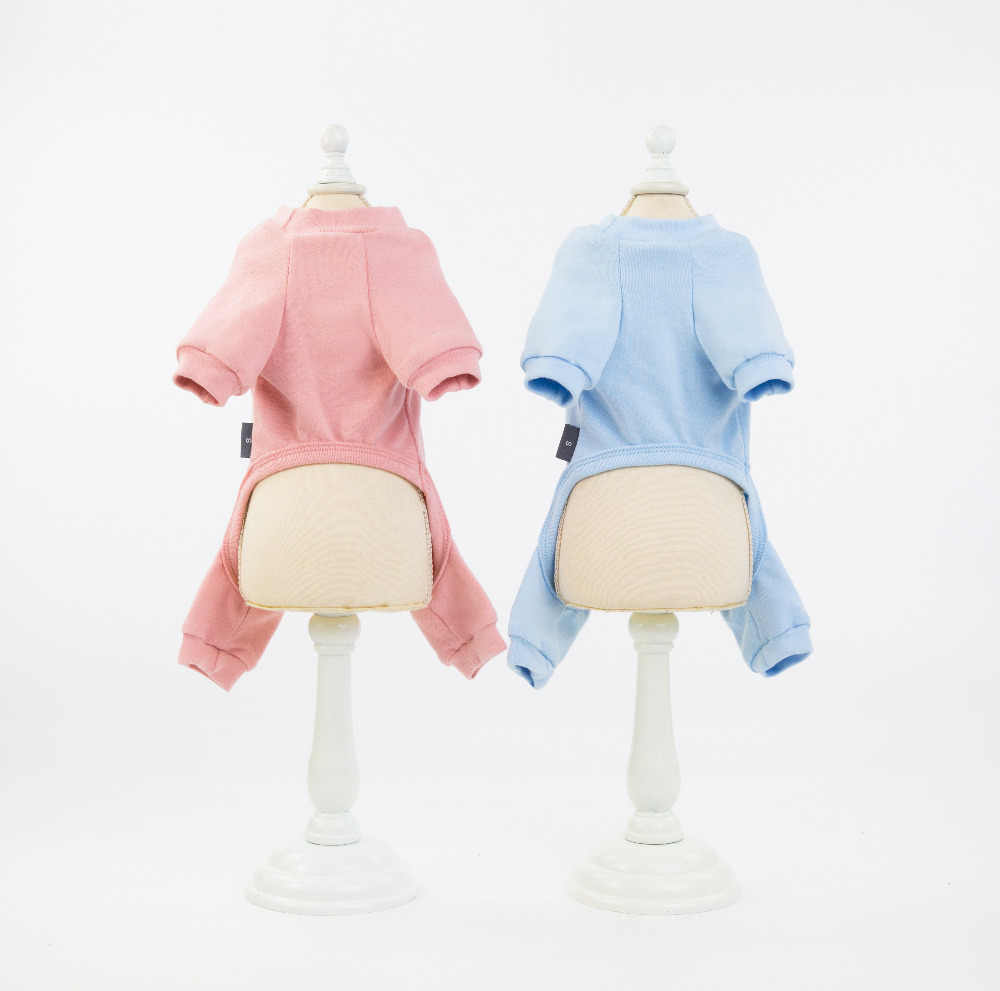 Ubranko dla zwierząt domowych koszula 100% bawełna dres Cat Puppy solidna piżama spodnie T-Shirt 5 rozmiarów 5 kolorów