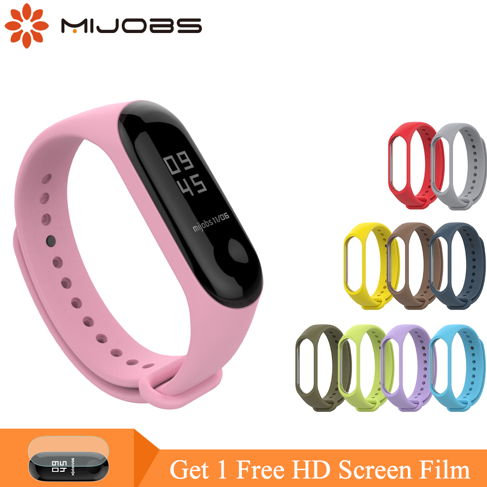 Mijobs Mi Band 3 Strap Silicone Bracelet For Xiaomi Mi Band 3 4 Smart Watch Wrist Strap Pulseira Wristband Miband 3 Strap