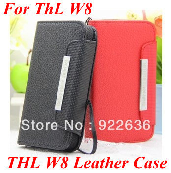 In Stock Leather Flip cover leather case for thl w8 w6 for Samsung note 2 n7100 Free Shipping